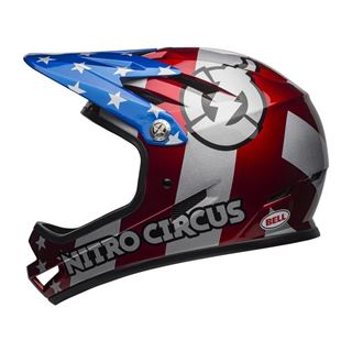 BELL Sanction Red/Slv/Blue Nitro Circus