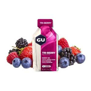 GU Energy 32 g Gel-tri berry 1 SÁČEK